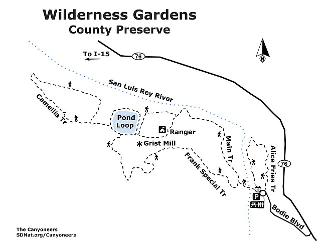 Wilderness Gardens map