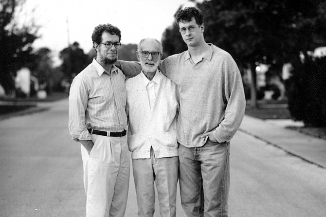 The author (right) with his father and grandfather