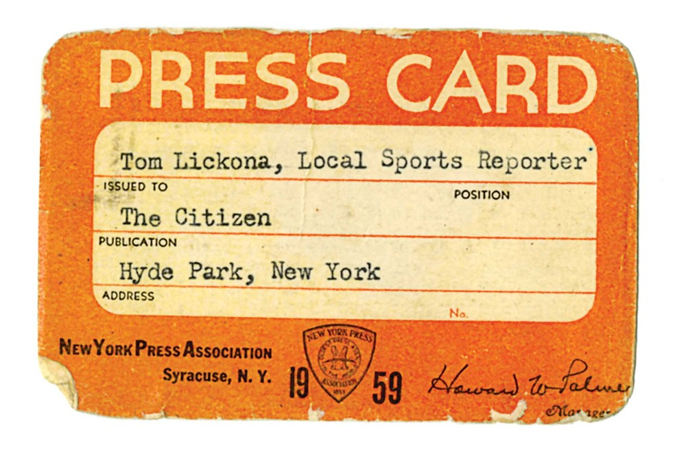 """""""I had an official Press Card that got me into any sports event free. It was my proudest possession."""""""