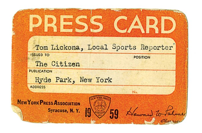 """I had an official Press Card that got me into any sports event free. It was my proudest possession."""