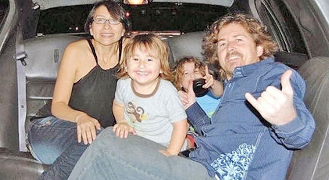Joseph McStay, his wife Summer, and their two sons, Gianni and Joseph Jr.