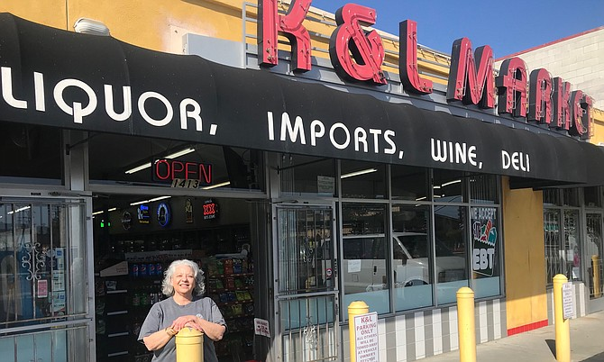 Maha's family has owned K & L Market at 1413 Morena Blvd. since 1964.
