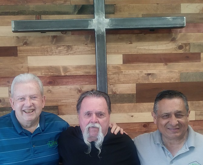Bread of Life Ministries: Pastor Alan Lauer, Jim Fulford and Pastor Jim Yzaguirre.