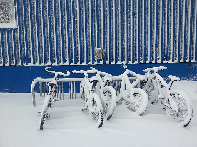 The Bikes of Antarctica. McMurdo Station, Antarctica. It was a beautiful day!