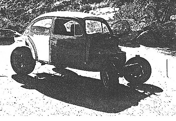 San Diego County Sheriff's deputies found Peters' VW stripped and abandoned on Mussey Grade Road in Ramona. A swastika was scratched on the roof.