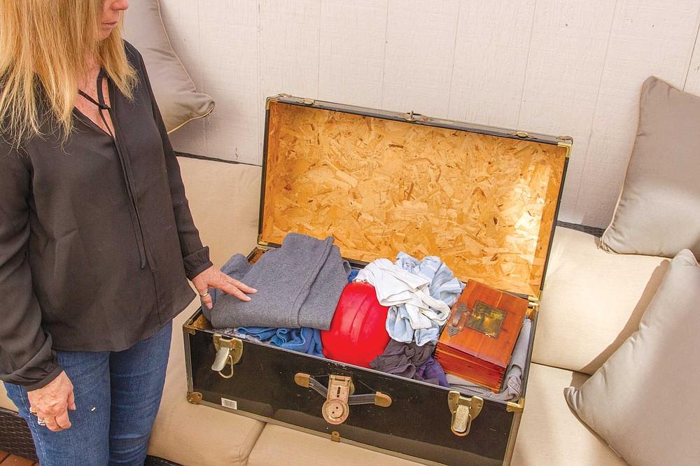 Cheryl Peters keeps a trunk full of Jamie's belongings