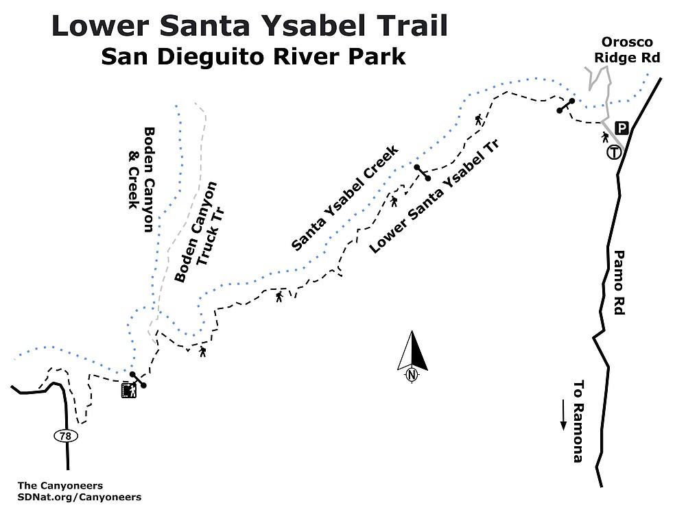 Lower Santa Ysabel map