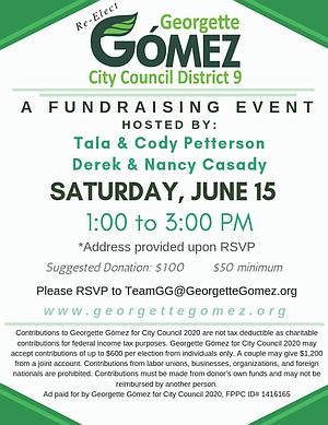 Gomez June 15 event