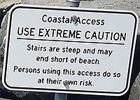 Sign at Wisconsin Street beach stairs