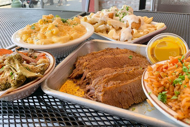 Comfort foods galore: brisket, dirty rice, country poutine, and mac