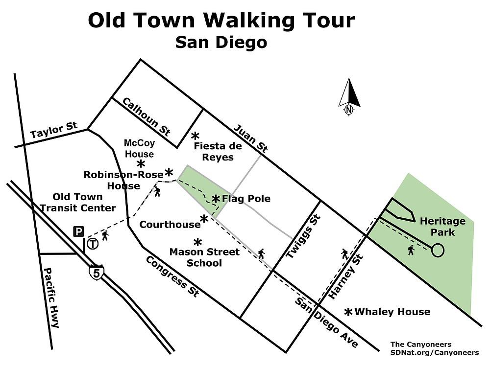 Old Town Walking Tour map