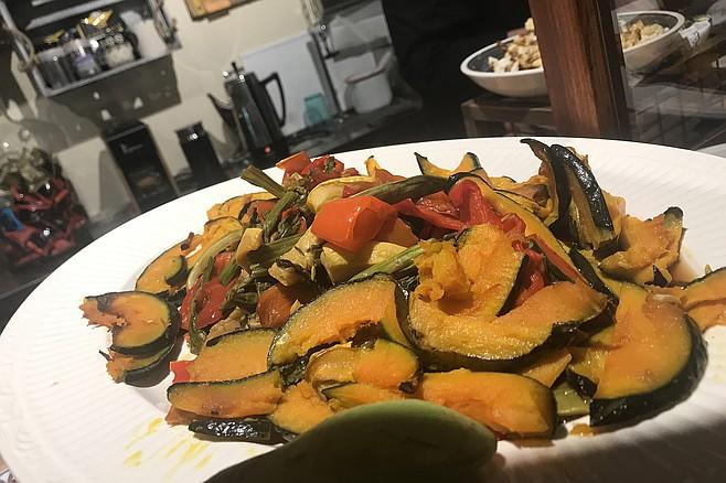 Roasted vegetable salad ($8)