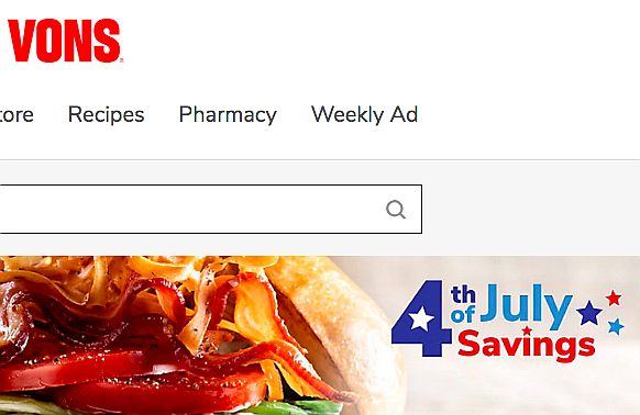From Vons home page