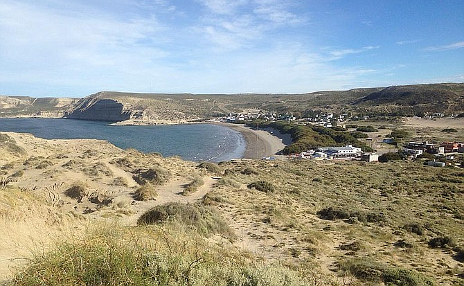 The small town of Puerto Piramides makes a great base for exploring the Peninsula Valdez nature reserve.