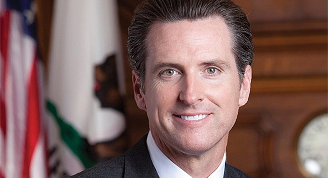 Gavin Newsom points to oil companies.