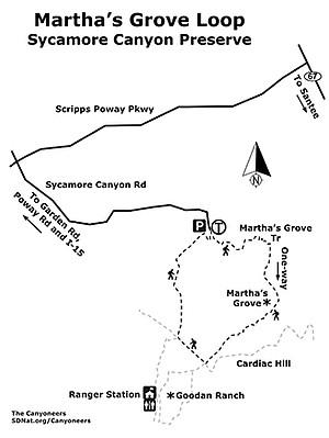 Martha's Grove Loop Map