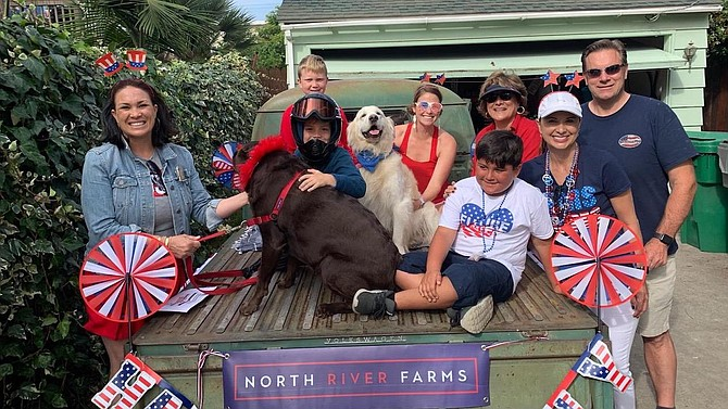 North River Farms float for Oceanside June 29 parade