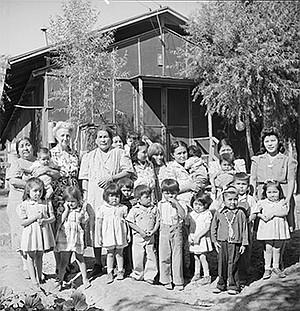 Children at internment camp