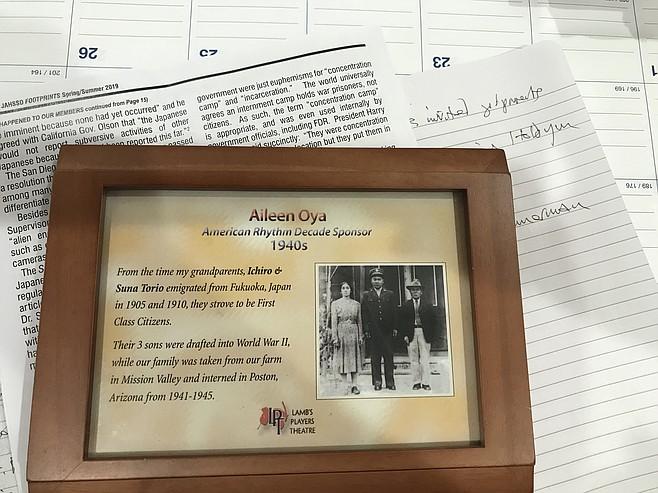 Plaque summarizes family's experience