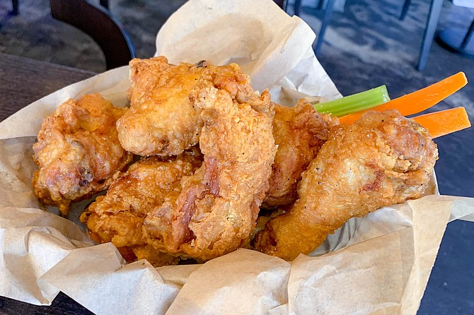 Half a Korean double-fried chicken