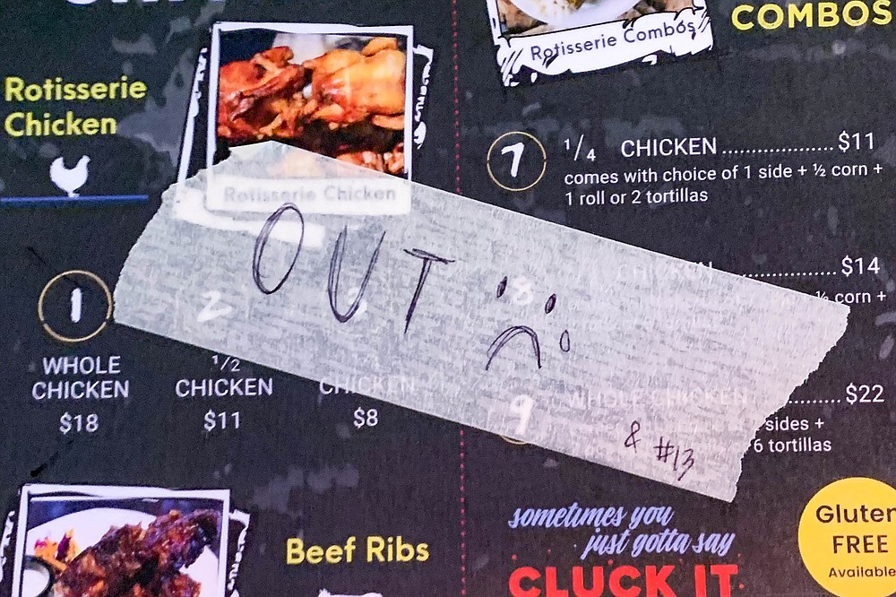 Rotisserie chicken no longer on the menu at Natural Style Chicken Hillcrest.