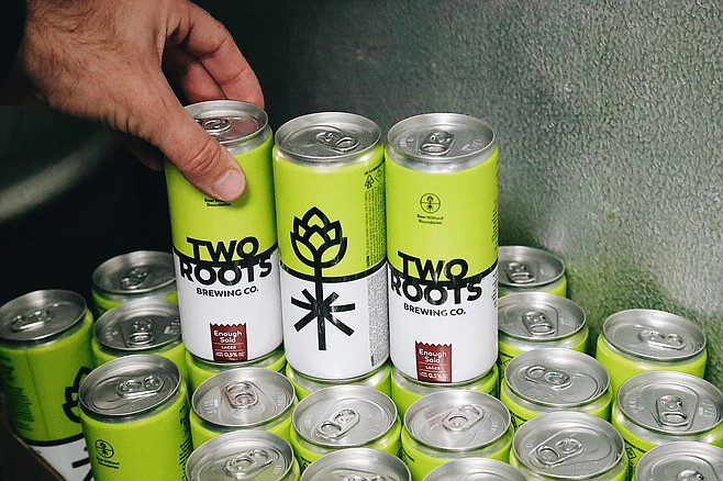 Cans of alcohol-free, THC infused beer