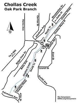 Chollas Creek map