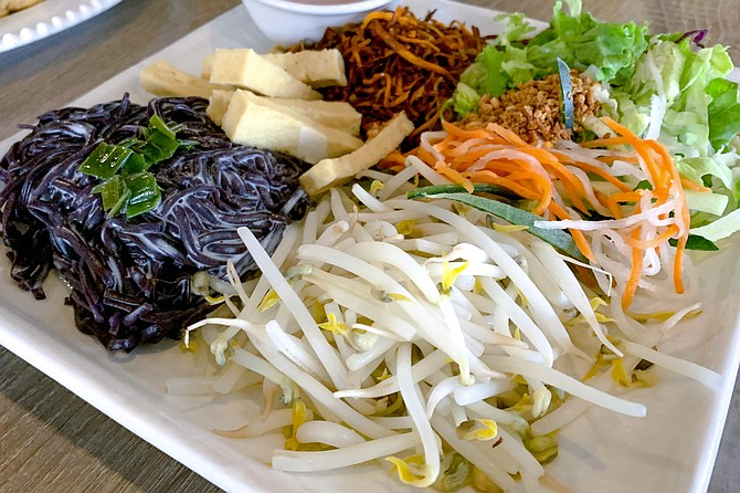 Organic black rice noodles in coconut milk, and more