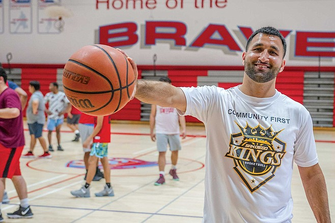 "Abraham Muheize started the San Diego Kings, an American Basketball Association team. ""Our slogan is community first."""