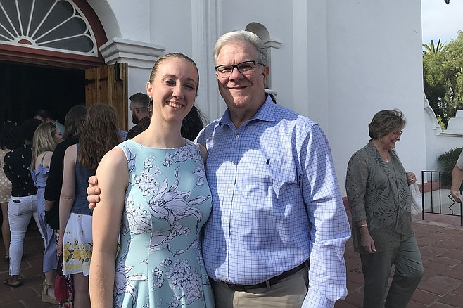 Bride to be Lauren Donati and proud father Frank