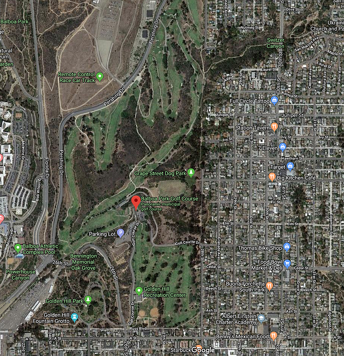 The course can be reached from the I-5 and Pershing Drive exit or the 94 and 28th Street exit.