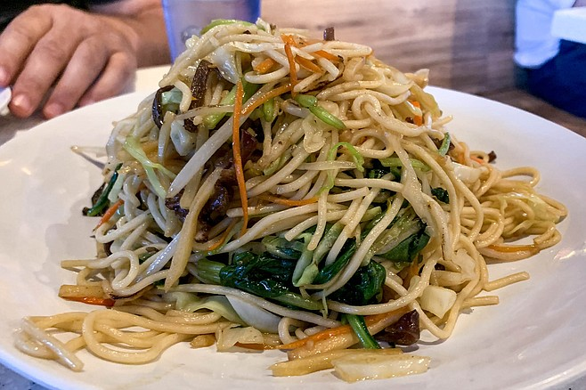 Mixed vegetable chow mein — tasty noodles with or without meat