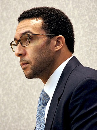 Kellen Winslow Jr, May 17, the day the jury was seated at his rape trial.