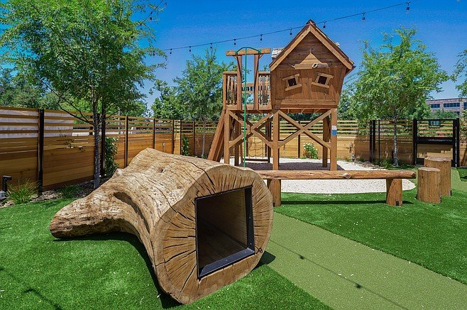 A children's play area at one of the My Yard Live beer gardens
