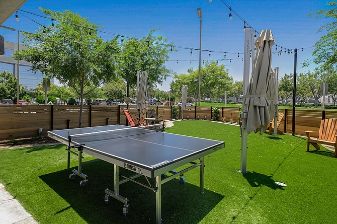 Outdoor ping pong at one of the My Yard Live beer gardens