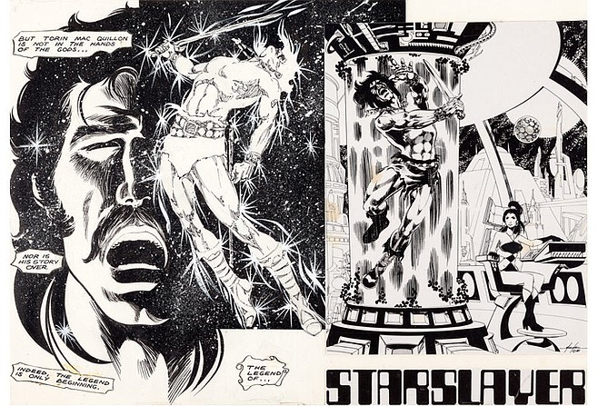 Art from Starslayer #1 by Mike Grell