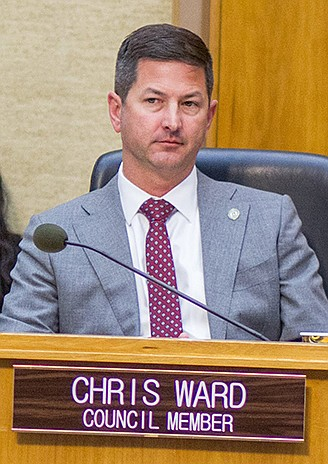 Councilman Chris Ward wonders why fellow politicians are content with free $7 meals, as he is.