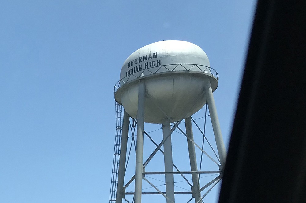 """The infamous water tower. """"Dad called it 'The prison,'"""" says Miller."""