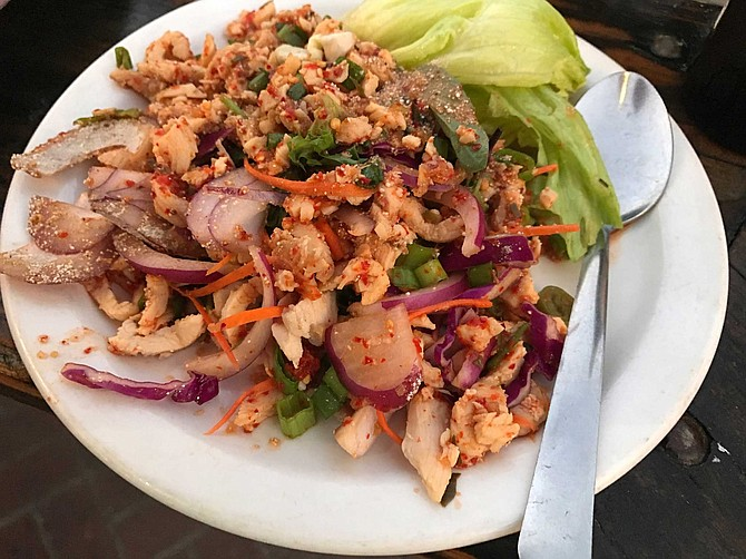 Larb, the classic Laotian meat salad, at Sab Lai Thai Kitchen