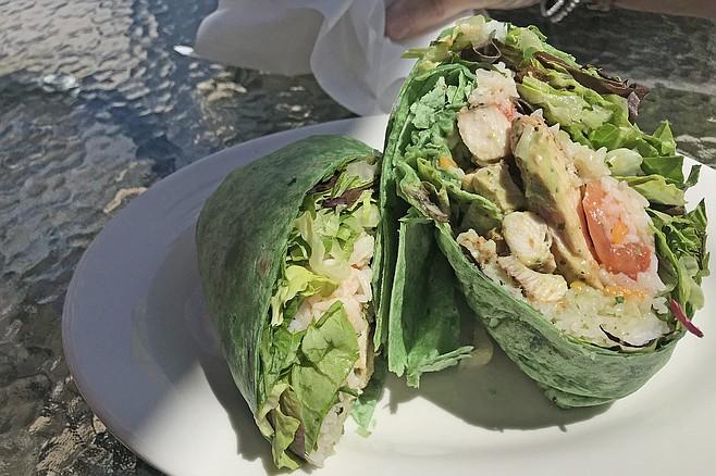Chinese chicken wrap, $8