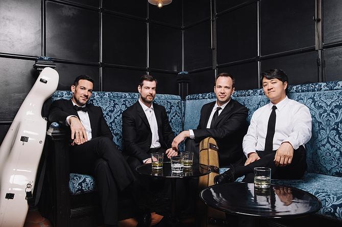 The Miró Quartet. From Left: Joshua Gindele, cello; John Largess, viola; William Fedkenheuer, violin; Daniel Ching, violin.