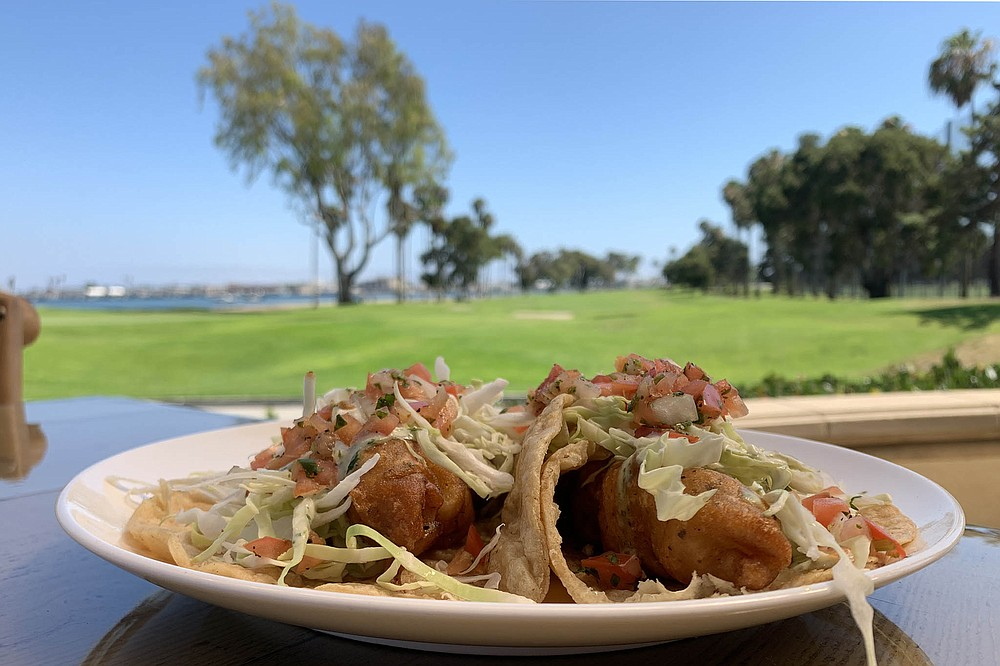 Overachieving golf club fish tacos
