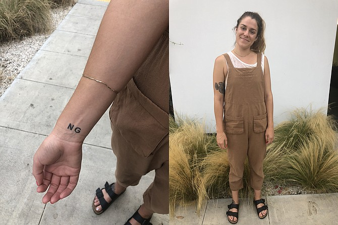"""Danielle's """"Not Guilty"""" wrist tattoo; A natural color palette"""