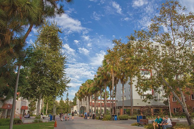 If we take local private colleges and the ten-campus University of California system out of the equation, San Diego State sparkles. Of late, the campus's desirability rivals most state schools in America.