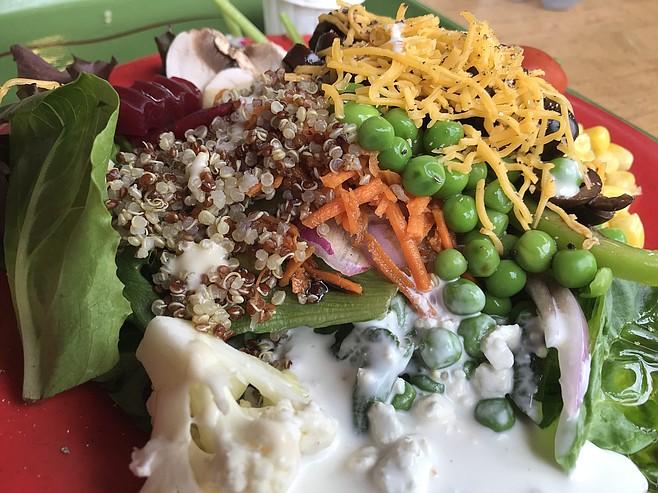 Quinoa and cauliflower
