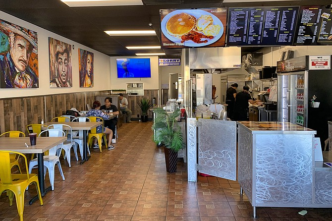 A new Barrio Logan shop, decorated with artwork