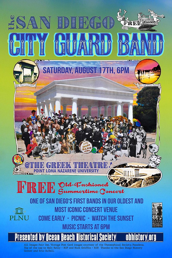 City Guard Band at the Greek Theatre poster.