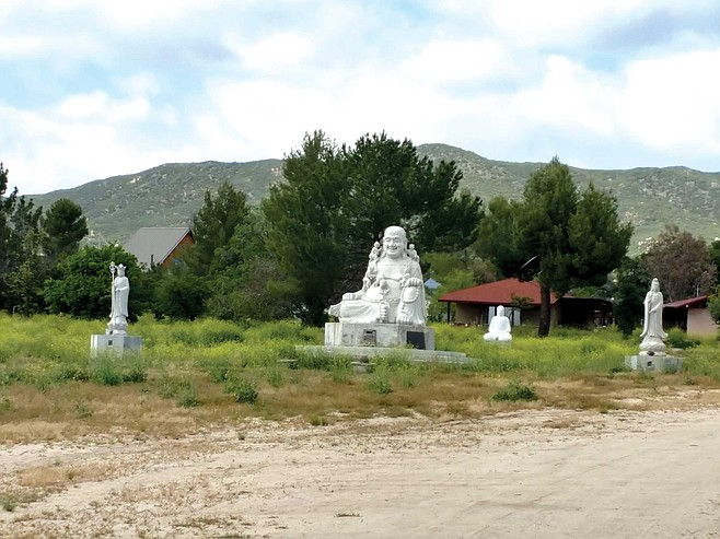 The Lieu Quan Meditation Center is reportedly home to some of the country's largest Buddhist statues that occupy an otherwise unremarkable ranch