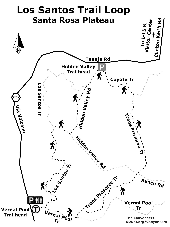Photo: Los Santos Trail Loop map | San Diego Reader