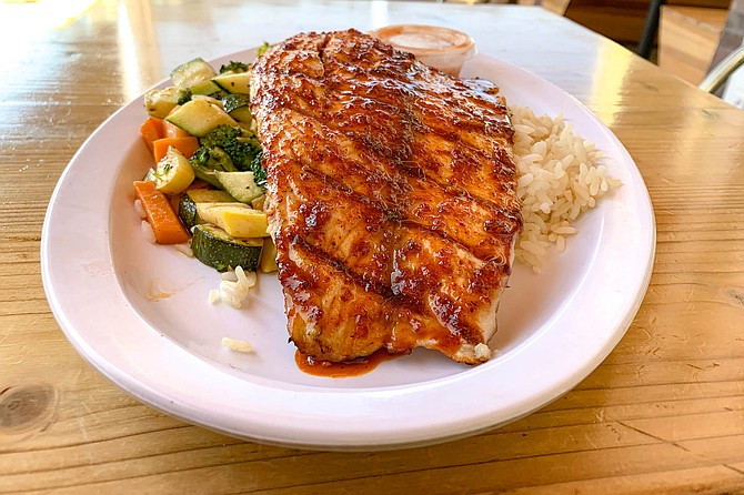 Spicy soy ginger glazed barramundi